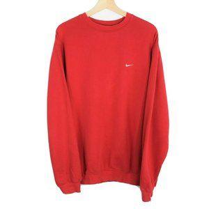 Vintage Nike Side Swoosh Crewneck Sweatshirt Red